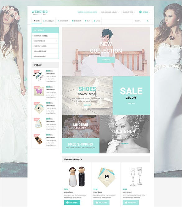 wedding accessories oscommerce template