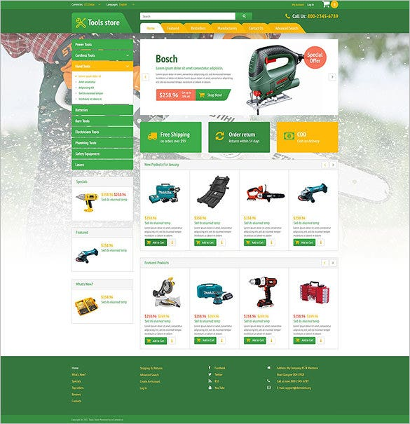 electrical accessories oscommerce template