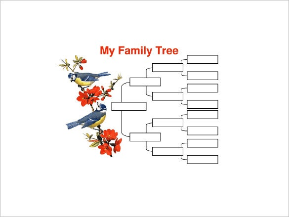4 generation family tree with birds free word template