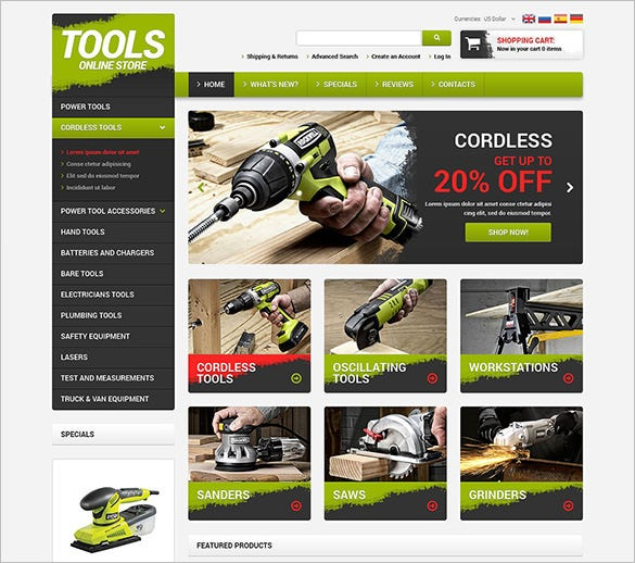 hand tools accessories oscommerce template