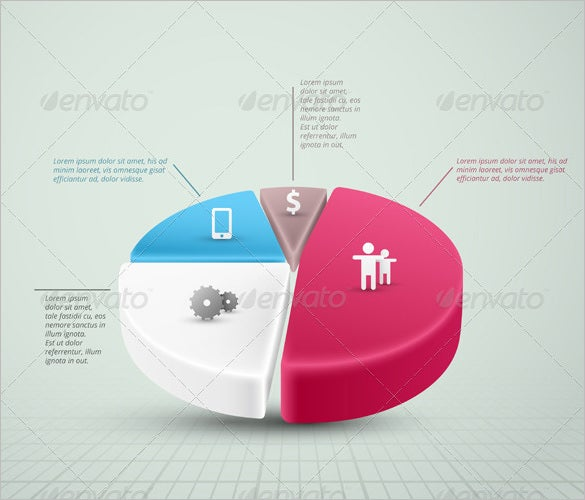 3d style pie chart template download