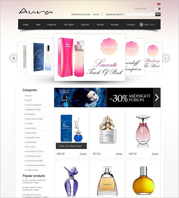 5 Cosmetic Store Oscommerce Themes & Templates | Free & Premium ...