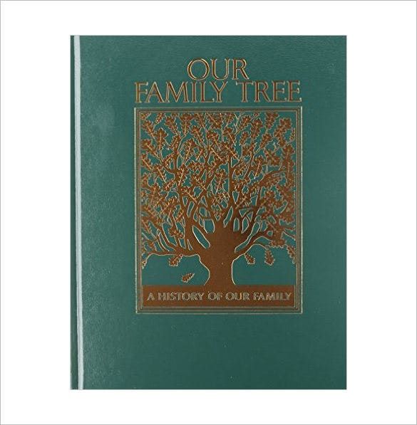 Family Cookbook Cover Template ~ Family tree book template free sample example