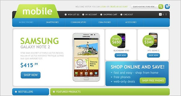 simple mobile store opencart theme