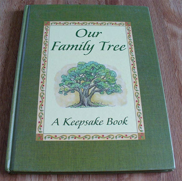 Family Cookbook Cover Template ~ Family tree book template free word excel pdf