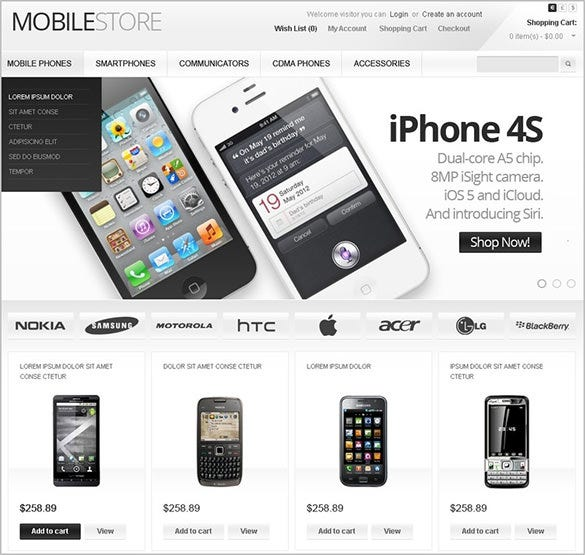 14+ Mobile Store OpenCart Themes & Templates | Free & Premium Templates