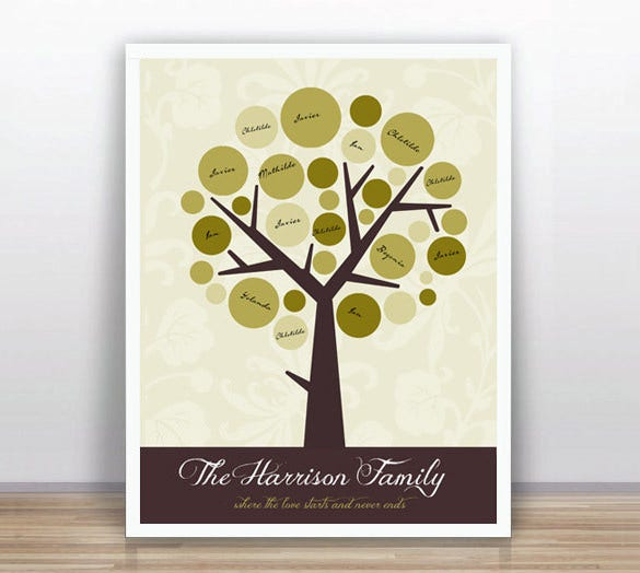 family tree printable guest book template