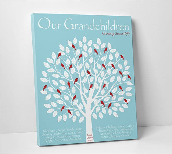 grandparent family tree book template
