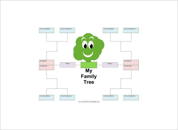 kids family tree template word free download