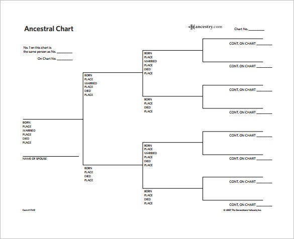 ancestral family tree chart free pdf download