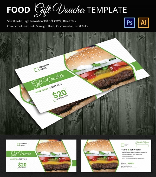 Elegant Food Voucher Template