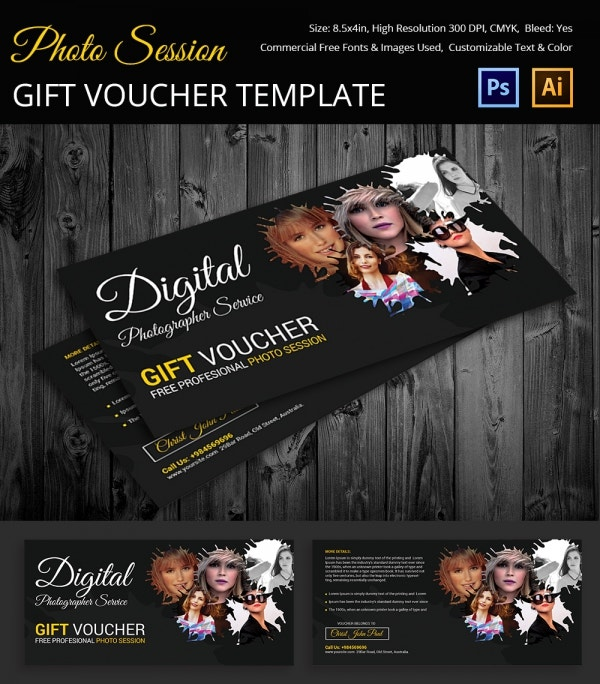 Voucher template 9 free word psd eps documents download photo session gift voucher template yelopaper Gallery