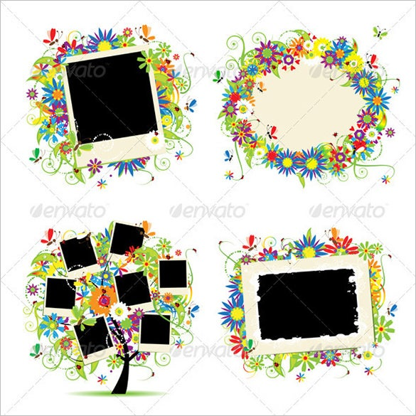 vector eps photo family tree template