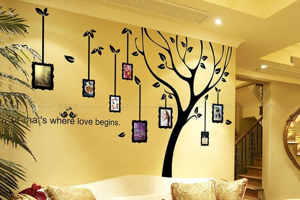 family photo tree decals template download