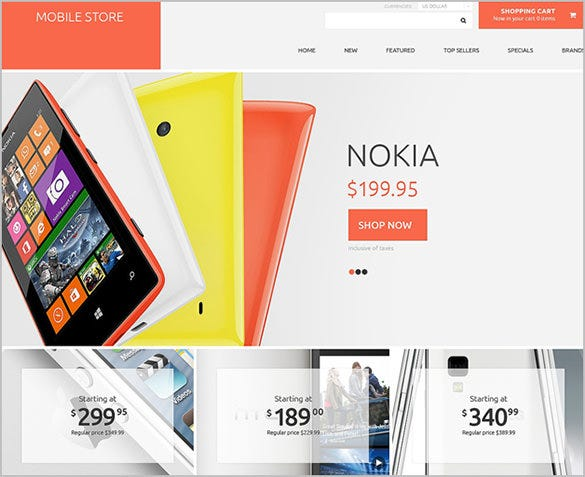 pretty mobile store oscommerce theme