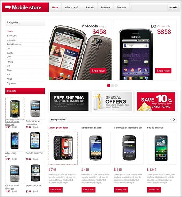 splendid mobile store oscommerce theme