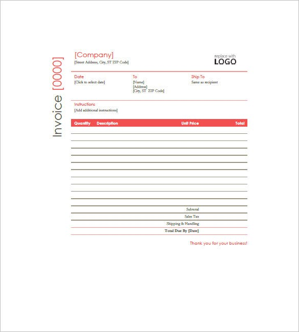 Construction Invoice Template – 8+ Free Sample, Example, Format