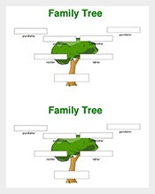 3rd generation family tree word free
