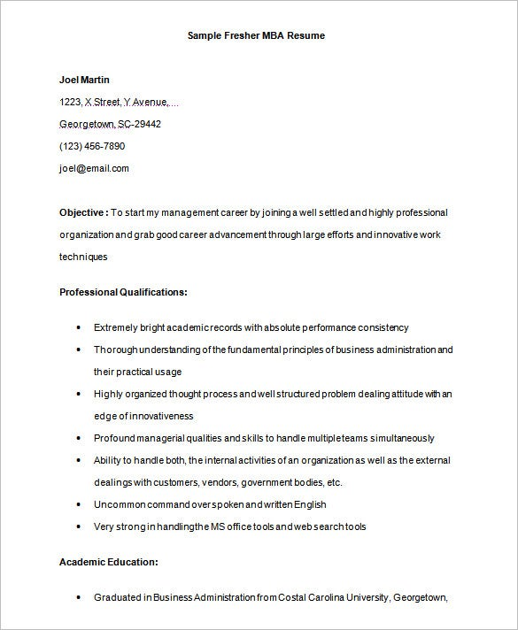 Wharton Resume Templateresume For Mba Examples Best