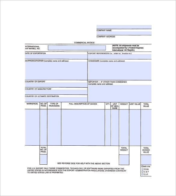 general invoice template free download