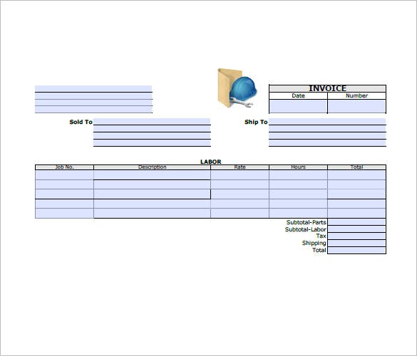 General Invoice Template Free Sample Example Format - General contractor invoice template