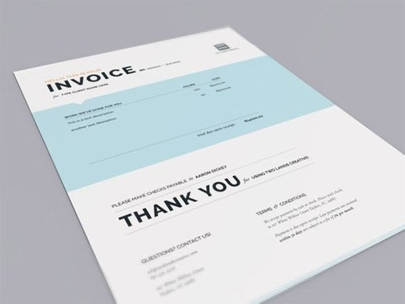 sample design invoice template