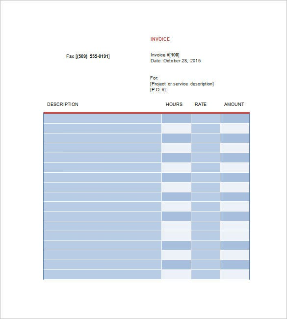 Designing Invoice Template 10 Free Sample Example Format – Graphic Design Invoice Template
