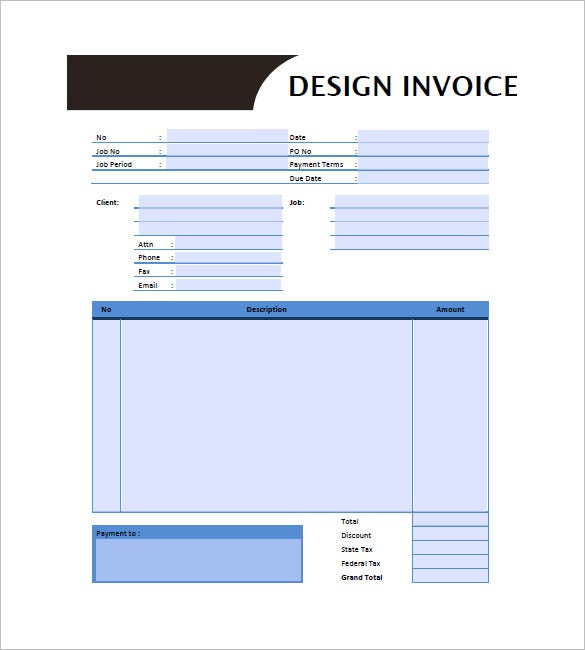 Designing Invoice Template Free Sample Example Format - Word document invoice template online clothing stores
