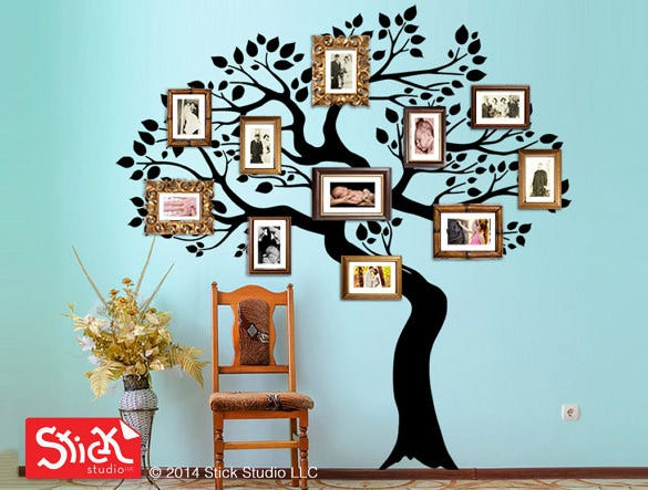 large family tree example template download
