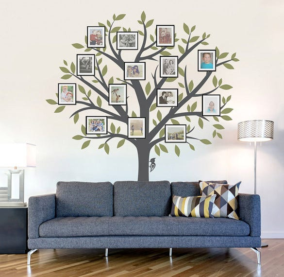 large family tree wall decal format download