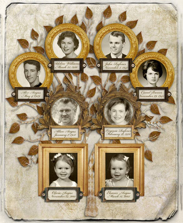 three generation sample family tree template