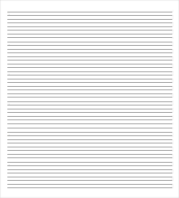 ruled line note paper template word doc