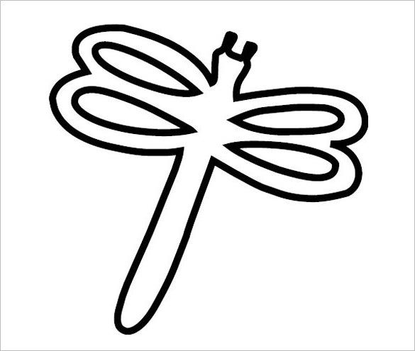 simple dragonfly template
