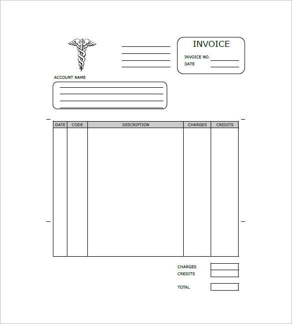 Medical  Health Invoice Template   Free Word Excel Pdf