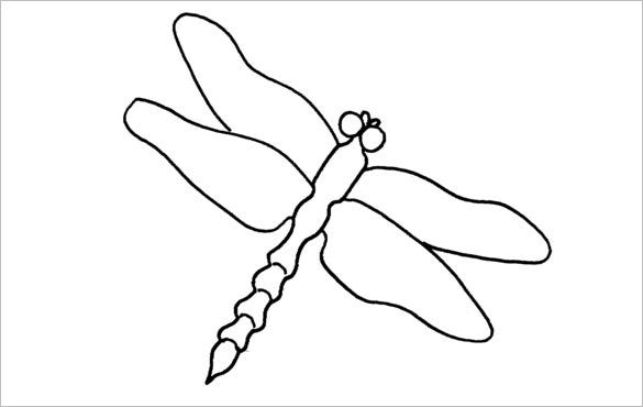 dragonfly design template