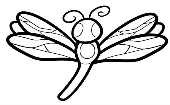 18+ Dragonfly Templates, Crafts & Colouring Pages | Free ... | 585 x 360 jpeg 37kB