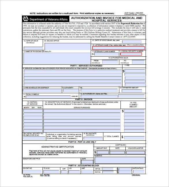 sample medical invoice template