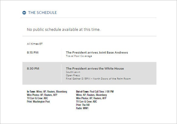 the president obama travel schedule template daily update