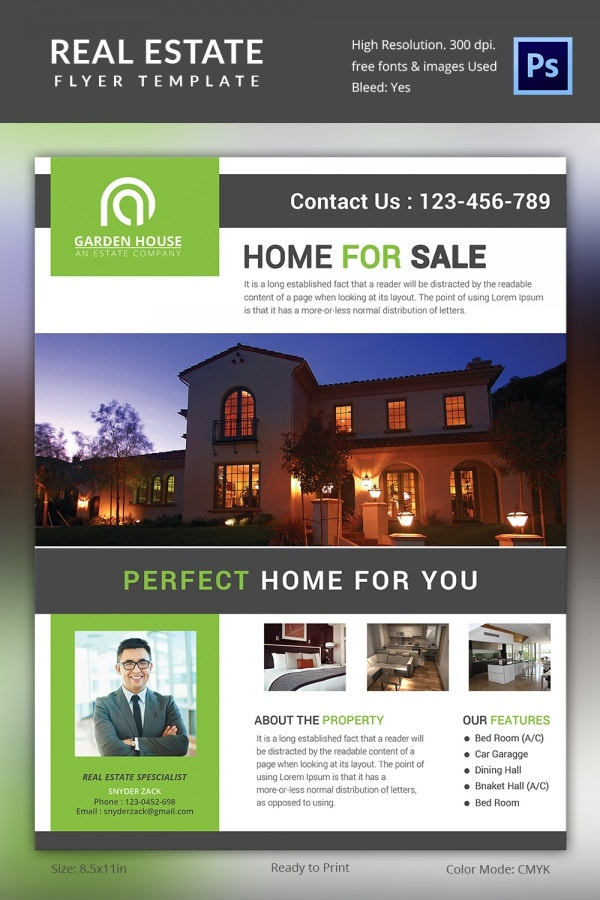 Perfect Home Real Estate Flyer Template