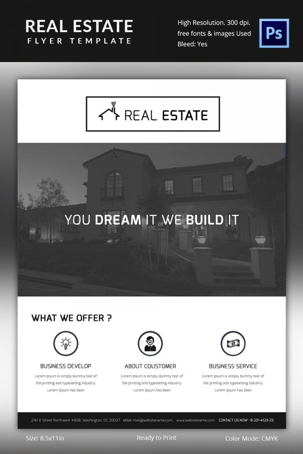 Individual Real Estate Flyer Template