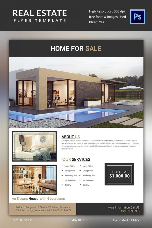 Duplex Real Estate Flyer Download