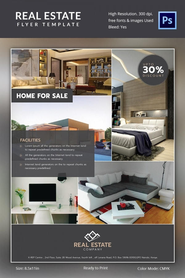 Real estate flyer template 35 free psd ai vector eps Furniture design software free download