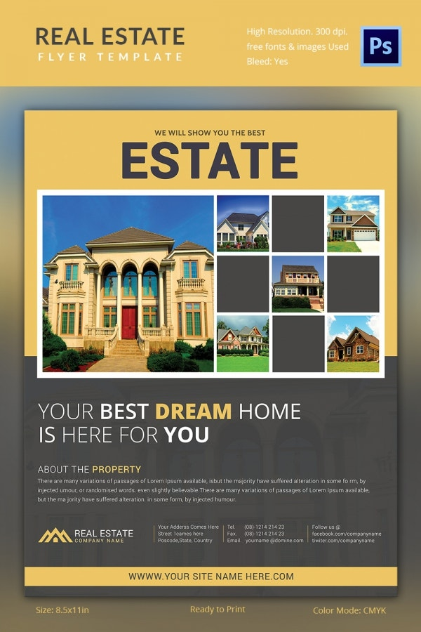 rental property flyer template - real estate flyer template 35 free psd ai vector eps