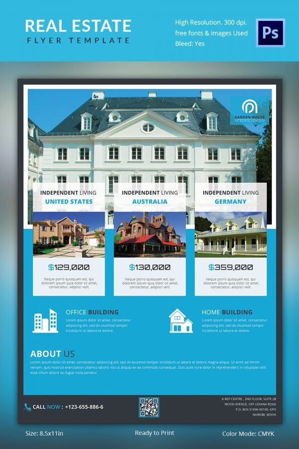 Well Designed Real Estate Flyer