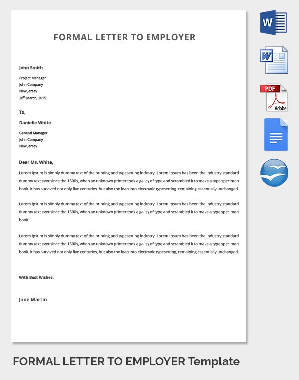 Formal Letter Template   Free Word Pdf Documents Download