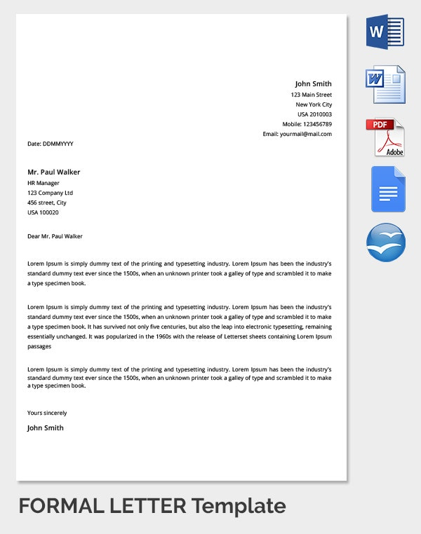 Formal Letter of Emmployee Reply to Manager