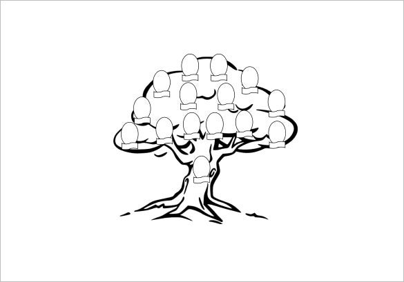 family tree colouring page for kids example download