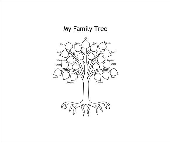 sample colorable family tree for kids download