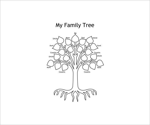 kids family tree template  u2013 10  free sample  example