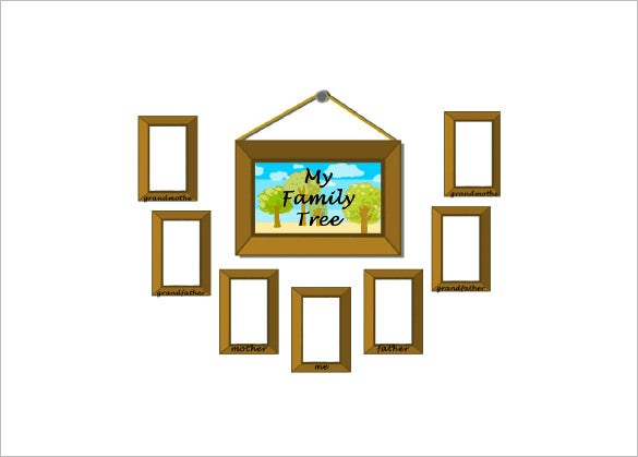 picture frame family tree for kids example template